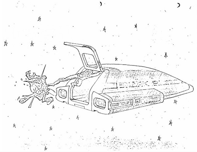 Image accompanying the Alien script, by Dan O'Bannon