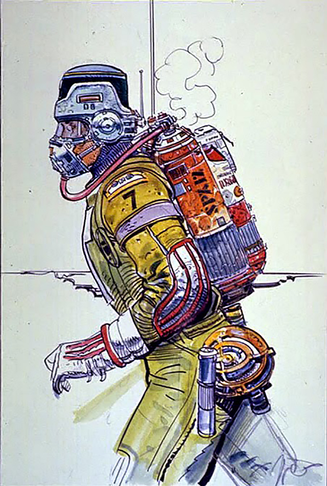 A space suit design by Moebius, for Alien