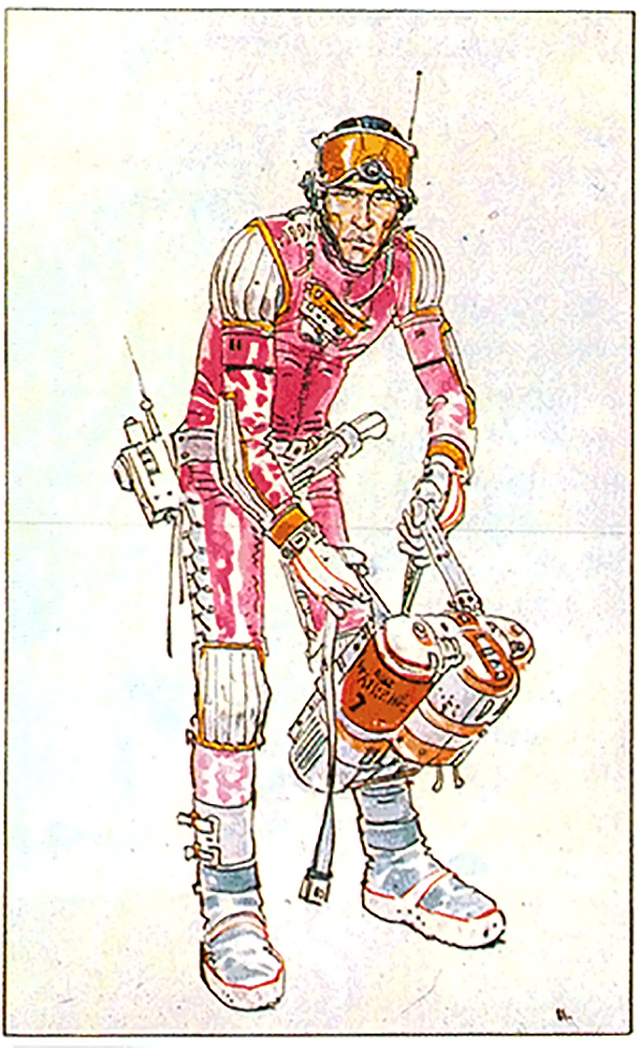 Space suit design for Alien by Moebius