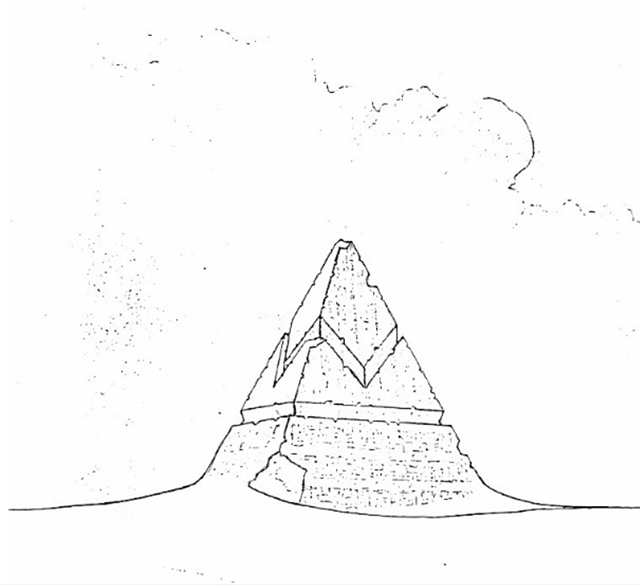 The original pyramid structure from the sci-fi film Alien