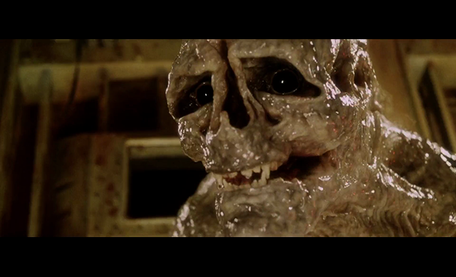 The alien newborn, from the sci-fi movie Alien: Resurrection