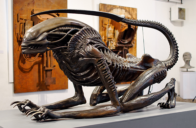 Alien sculpture created by HR Giger for Alien3