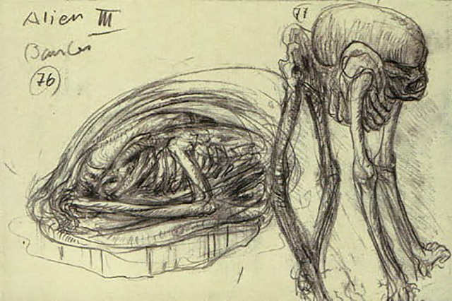 Concept sketch for the Bambi Burster, Alien3
