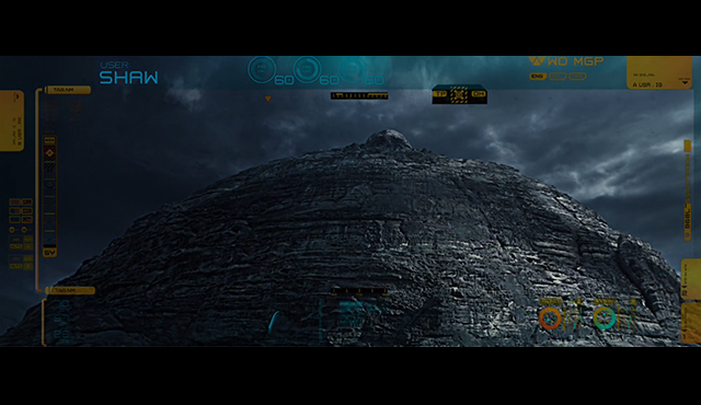 The alien pyramid, from Ridley Scott's Alien movie Prometheus