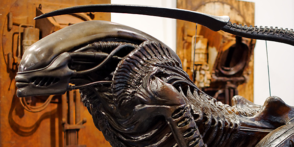 Creature from David Fincher's Alien 3, by H.R. Giger
