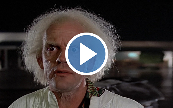 Doc Brown from Back to the Future