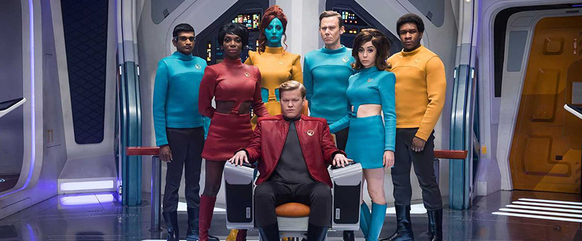 The cast from Black Mirror's Star Trek episode USS Callister