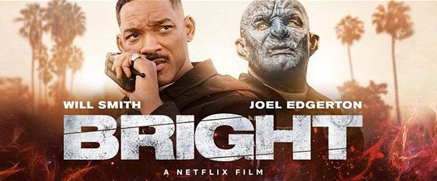 poster for Bright, a Netflix movie with Will Smith